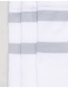 Nike Sb 3 Pack Crew Socks In White Sx5760 100 by Nike Skateboarding