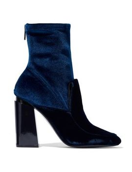 Two Tone Velvet Ankle Boots by Sigerson Morrison