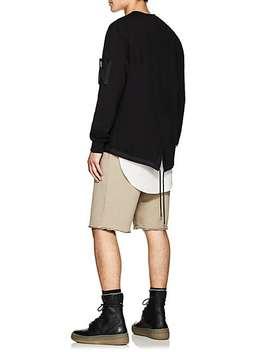 Fishtail Vent Cotton Terry Sweatshirt by Helmut Lang