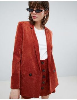 Asos Design Blazer In Cord by Asos Design