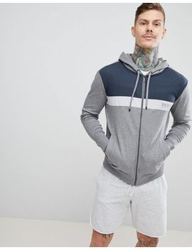 Boss Bodywear Zip Thru Jacket With Hood by Boss