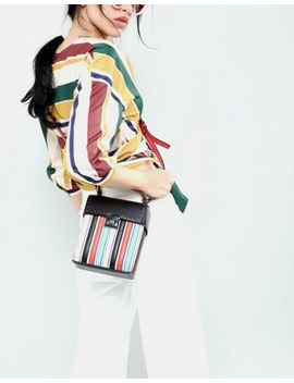 Asos Design Striped Lid Top Cross Body Bag by Asos Design