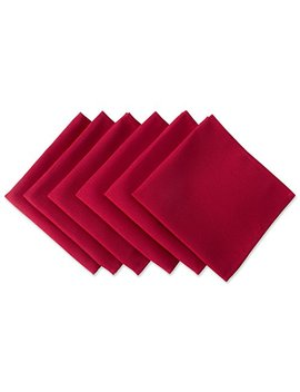 "Dii Wrinkle Resistant 20x20"" Polyester Napkin, Pack Of 6, Red   Perfect For Brunch, Catering Events, Thanksgiving, Dinner Parties, Christmas And Everyday Use by Dii"