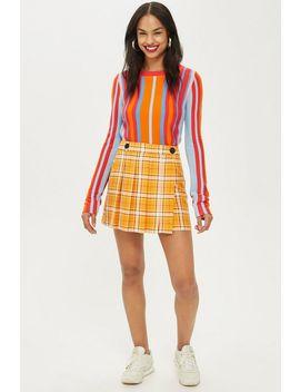 Summer Check Kilt Mini Skirt by Topshop