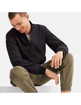 Men Short Ribbed Blouson (Online Exclusive) by Uniqlo