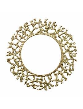"""Kim Seybert Round Gold Molten Charger Accent Placemat Aluminum 13.5"""" D by Kim Seybert"""