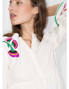 Linen Blend Rik Rak & Embroidered Blouse by & Other Stories