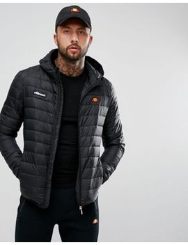 Ellesse Padded Jacket With Hood In Black by Ellesse