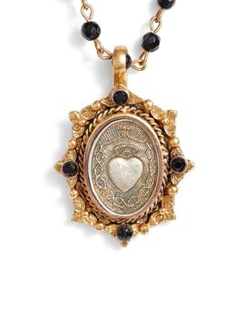 Oval Pinto Sacred Heart Magdalena Rosary Necklace by Virgins Saints & Angels