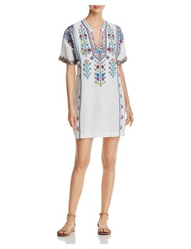 Clover Embroidered Tunic Dress by Johnny Was