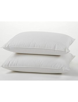 East Coast Bedding Premium Quality European 800 Fill Power 100 Percents White Goose Down Pillow Set – 100 Percents Luxury Cotton Sateen Shell – Set Of Two Pillows (King) by East Coast Bedding