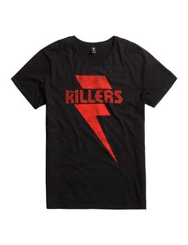 The Killers Red Lightening Logo T Shirt by Hot Topic