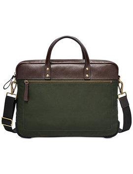 Men's Haskell Briefcase by Fossil