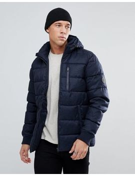 River Island Puffer Jacket In Navy by River Island