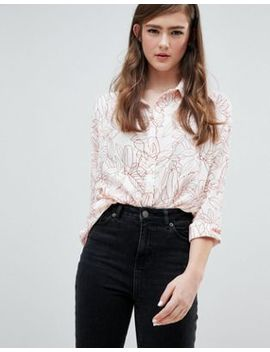 Asos Design Oversized Shirt In Abstract Flower Print by Asos Design