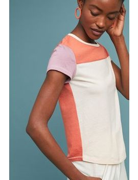 Colorblock Baseball Tee by Anthropologie
