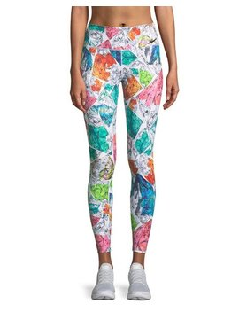 Power Mosaic Print Running Tights by Nike