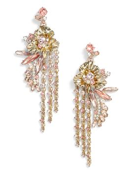 Flower Fringe Earrings by Givenchy