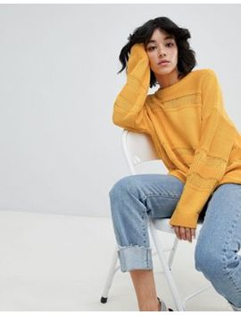 Asos Design Eco Oversized Sweater With Stitch Detail by Asos Design