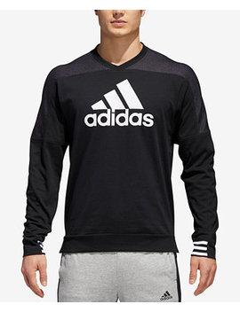 Men's Colorblocked Drop Shoulder Sweatshirt by Adidas