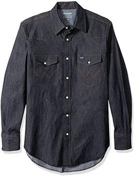 Wrangler Men's Motorcycle Denim Shirt by Wrangler