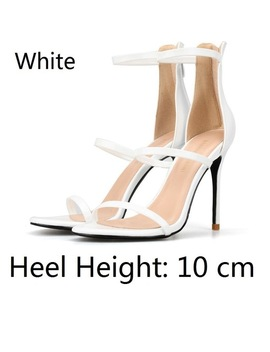 2018 Small Size 32 46 Summer Style Fashion Black Sexy High Heels For Sandals Women's With Female Shoes Woman Ladies Red Gold by Maiernisi