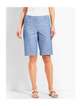 "10 1/2"" Chambray Perfect Short by Talbots"