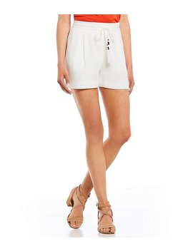 Tassle Tie Front Shorts by Generic