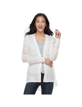 Juniors' Candie's® Pointelle Cardigan by Juniors' Candie's