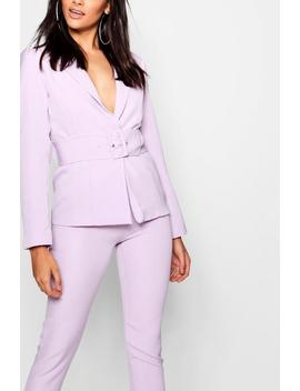 Belted Eyelet Jacket by Boohoo
