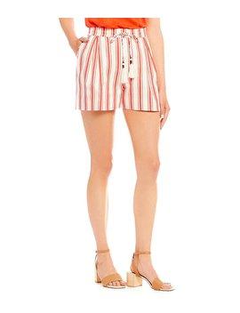 Stripe Tassel Short by Generic