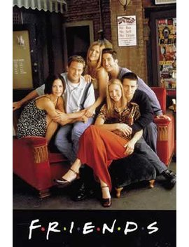Friends   Tv Poster: Sitting On Couch (Size: 27'' X 40'') by Poster Stop Online