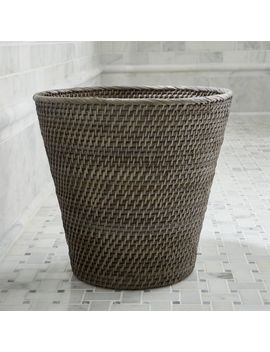 Sedona Grey Tapered Waste Basket/Trash Can by Crate&Barrel