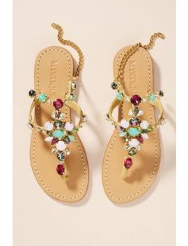 Mystique Golden Sun Sandals by Mystique