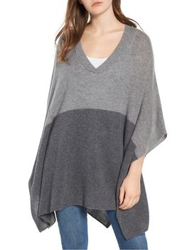 Colorblock Cashmere Poncho by Halogen®