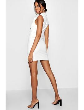 Sleeveless Plunge Blazer Dress by Boohoo