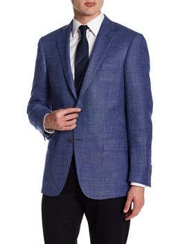 Medium Blue Two Button Notch Lapel New York Fit Sport Coat by Hart Schaffner Marx