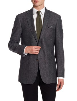 Medium Grey Two Button Notch Lapel New York Fit Sport Coat by Hart Schaffner Marx