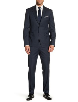 Textured Solid Trim Fit Suit by Nordstrom Rack