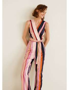 Striped Long Jumpsuit by Mango