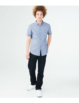 Solid Stretch Woven Shirt by Aeropostale