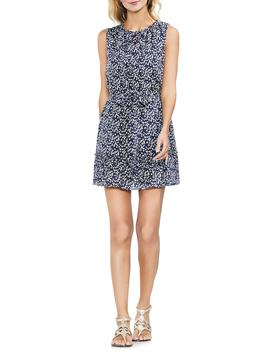 Whirlwind Bud Print Cotton Blend Minidress by Vince Camuto