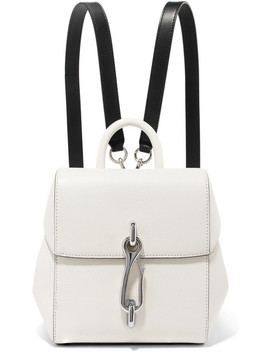 Hook Mini Smooth And Textured Leather Backpack by Alexander Wang