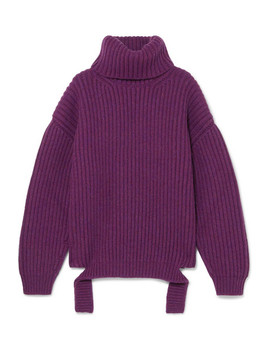 Ribbed Wool Turtleneck Sweater by Balenciaga