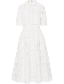 Janis Checked Cotton Poplin Dress by Emilia Wickstead