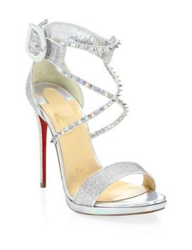 Lurex 120 Metallic Studded Sandals by Christian Louboutin