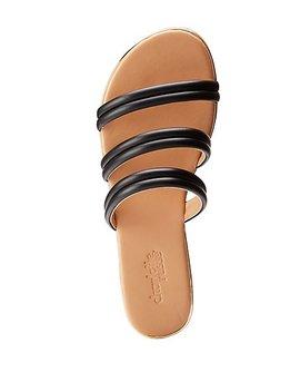 Banded Slide Sandals by Charlotte Russe