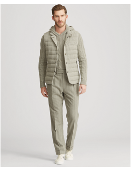 Quilted Wool Blend Down Vest by Ralph Lauren
