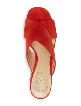 Women's Stania Suede Block Heel Slide Sandals  by Vince Camuto