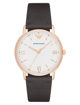Leather Strap Watch, 43mm by Emporio Armani